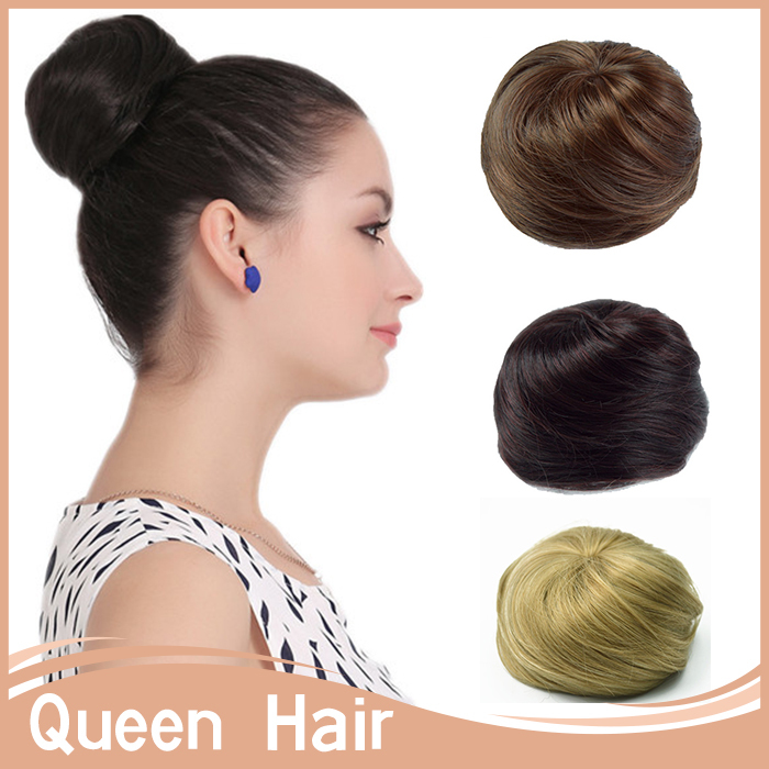 1PC Chignon Hair Styling Synthetic Hair Bun Updos Extension Donut Roller Hair Chignons Bun Hair Chignon For Long HairQ3(China (Mainland))
