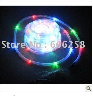 10pcs Solar Tube Lights / Color Solar Neon String Underwater Light 100LED / Christmas Lights / RGB(China (Mainland))