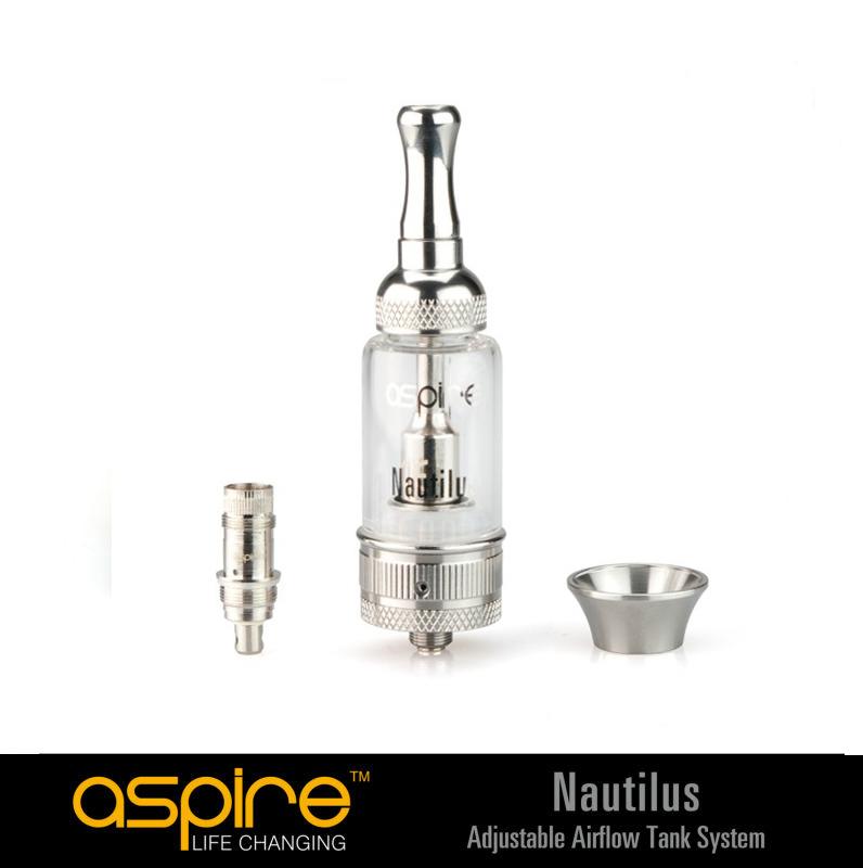 Original Aspire Nautilus Tank Electronic Cigarette Adjustable Airflow 5ml Clearomizer Pyrex Glass Tank