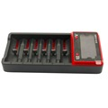 Svpro Intellicharge Lithium LCDBattery Charger 6 Slots Universal Smart Car Wall or Li ion AA AAA