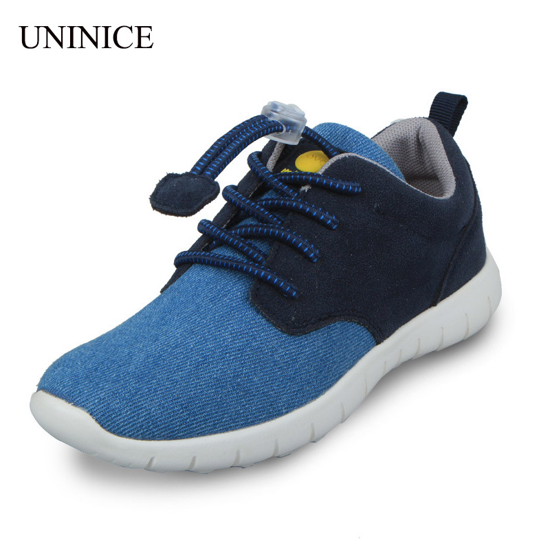 Leisure Kids Sports Shoes Canvas Denim 2016 Boys Shoes Breathable Lightweight Running Shoe For Children Little Big Boys Sneakers(China (Mainland))