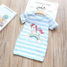 3-8 שנות פנסי כוכב עיצוב Unicorn שמלה עבור בנות נסיכת Unicornio מסיבת שמלות קיץ ילדי שמלות לילדה פסחא תלבושות(China)