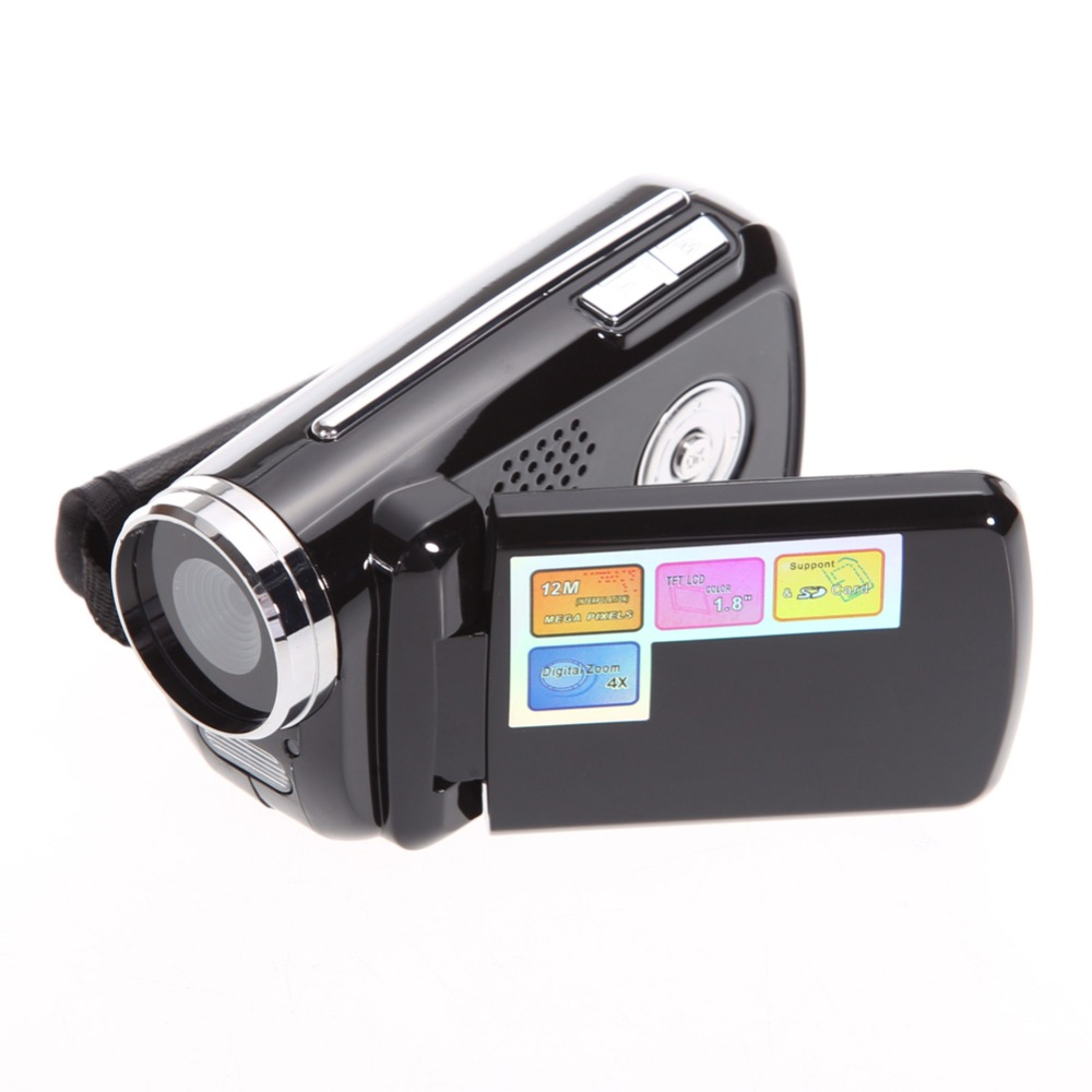 1.8inch TFT LCD 12MP 720P HD Mini DV Camcorder Digital Video Camera Recorder with 4x Zoom LED Flash Light Camcorder Digital Cam(China (Mainland))