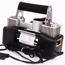 120W Automobile air pump Vehicle mounted pump Tire inflation Double cylinder pump(China (Mainland))