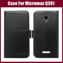 Micromax Q391 Case,Flip Wallet Leather Cover Case for Micromax Canvas Doodle 4 Q391 Case Stand With Card Holder in Stock