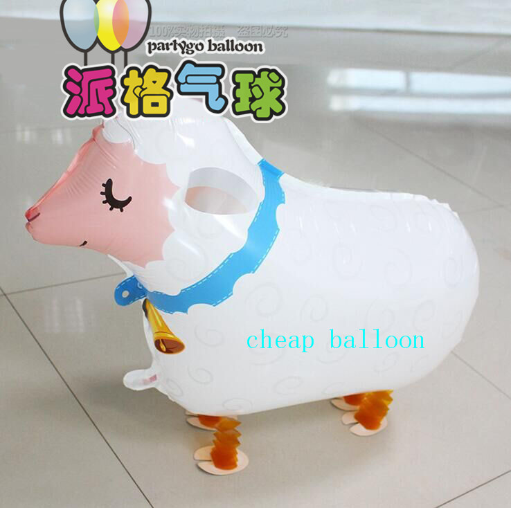 1Pcs Free Shipping sheep Pet Helium Walking Balloon Baby Shower Foil Balloons Party/Birthday/Wedding Decorations Toys mutton(China (Mainland))