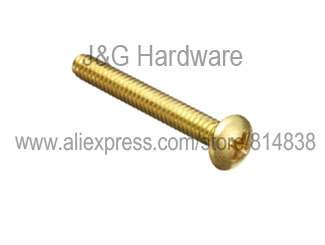 M3 x 16  Brass machine screw pan head  Philips Drive 1000 pieces<br><br>Aliexpress