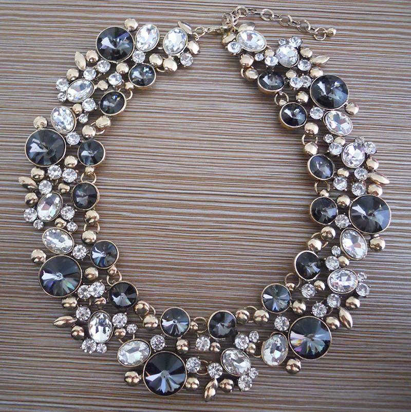HTB1owVKHFXXXXXPaXXXq6xXFXXXy - PPG&PGG2017 New Luxury Women Imitation Pearl Jewelry Crystal Statement Necklace Choker Collar Lady Fashion Accessories