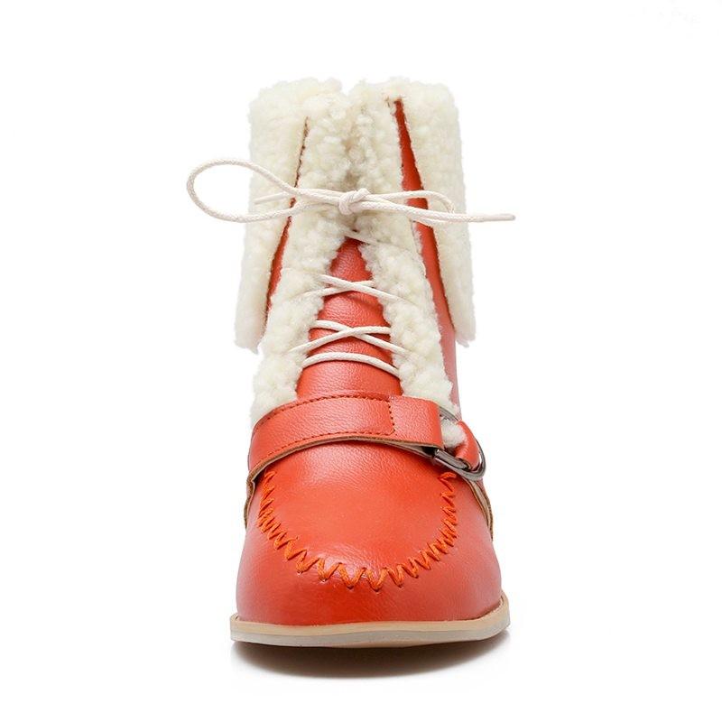 ซื้อ พลัสSize34-43 2016ใหม่เซ็กซี่ผู้หญิงบู๊ทส์สีดำฤดูใบไม้ร่วงมาร์ตินพู่รองเท้ารอบนิ้วเท้าฤดูหนาวกันน้ำSBT2813