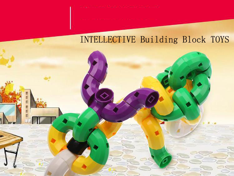 Plastic Children Kids Educational DIY Building Blocks Brick Toy Animal,INTELLECTIVE Block TOYS - Young Money store