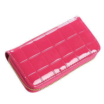 Fashion Ladies Brand Handy Long Wallet Women Patent Leather Credit Card Holder Money Wallets and Purse for Female Girls DJ0150