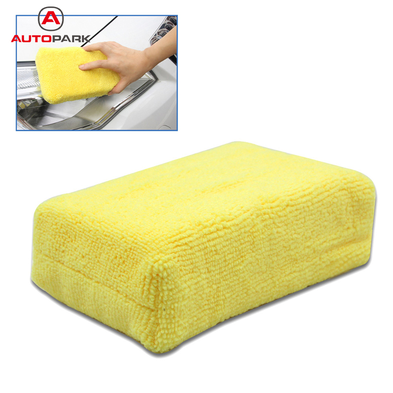 Professional Microfiber Car Cleaning Sponge Cloth Multifunctional Wash Washing Cleaner Cloths Yellow(China (Mainland))