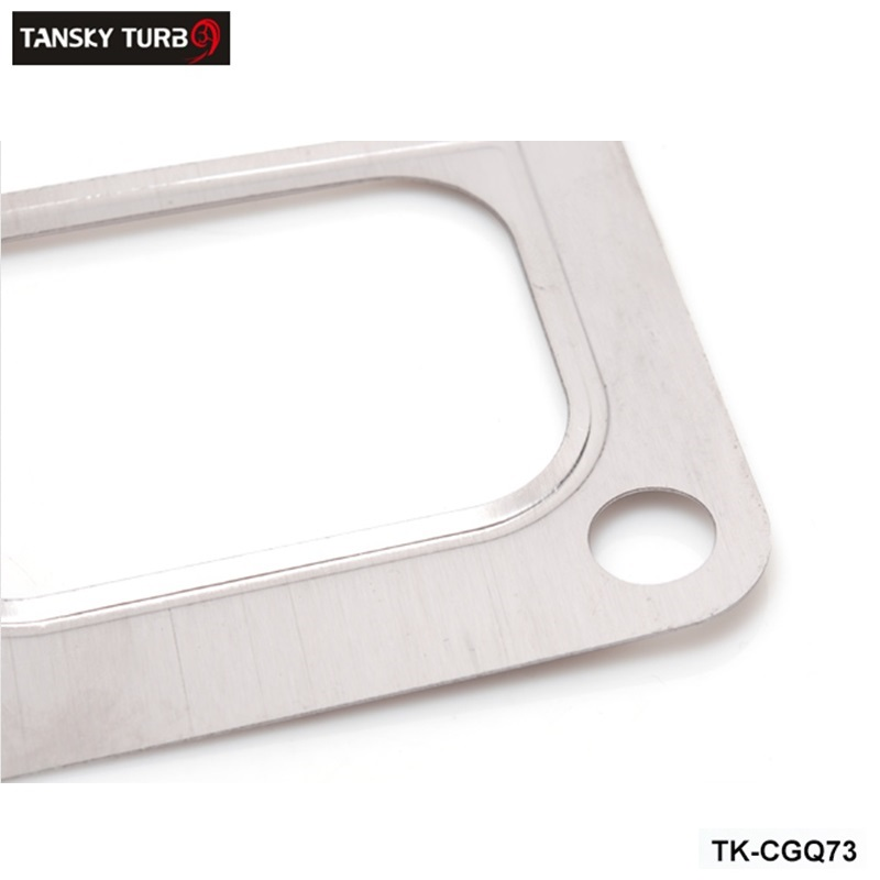 TANSKY JDM T6 Exhaust Divided Inlet 4 Bolt Divided Gasket Fit Twinscroll Turbocharger TK CGQ73