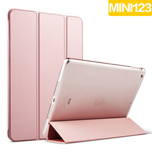 Tablet PC Case Ultra Slim Magnetic Smart Leather Cover Case with Matte Back Case for Apple iPad mini 1/2/3 with Retina Display(China (Mainland))