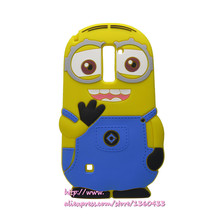 3D Cute Cartoon Yellow Minion Soft Silicone Mobile Phone Bags Case Cover For LG Stylus 2 Plus K530 K535