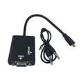 Micro HDMI to VGA Audio cable Male to Female Micro hdmi to vga adapter 3 5mm