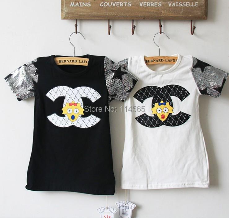 2014 New Kids Boys Girls Short Sleeve Cotton Summer T-Shirt Children Clothing Baby 5pis - Black Tuesday store
