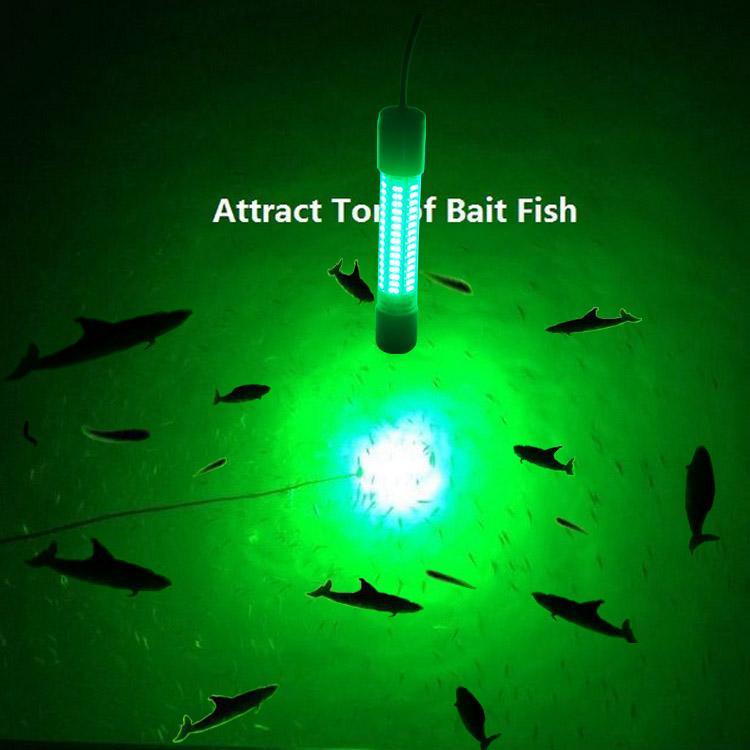 Upgraded 12v led green underwater fishing boat light night for Best night fishing lures