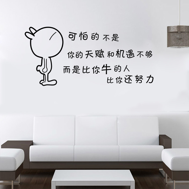 AW9519 Inspirational Proverbs Wall Stick School Students Study Office Can Remove Waterproof Paper Stickers Free Shippng(China (Mainland))