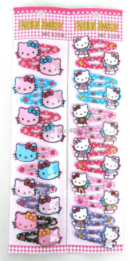 Wholesale - Cartoon Hello Kitty Hair Clip Hairpin hair accessories clips hair(China (Mainland))