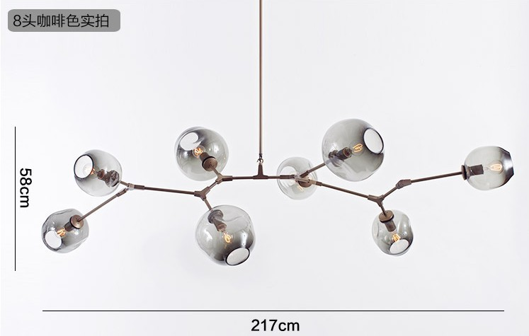 3 5 7 8 9 10 11 head chandeliers lighting modern lamp for Suspension 3 branches