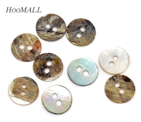 Hoomall decorative buttons 200pcs mother of pearl round for Decorative pins for crafts