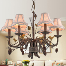 Wrought Iron Chandelier Island Country Vintage Style Chandeliers Flush Mount Painting Lighting Fixture Lamp Empress Chandeliers(China (Mainland))