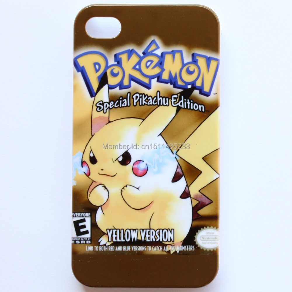 Pokemon GameBoy Game Boy Yellow Pattern Hard Case Cover For Apple iPhone 4 4s #M77(China (Mainland))