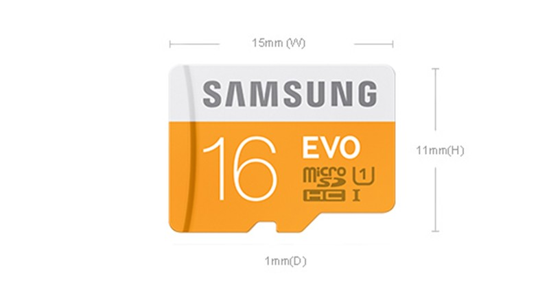 Samsung EVO Micro SD Card 16GB Class 10 Telephone TF Card As much as 48mb/s SDHC Assist Official Verification D12-L-02