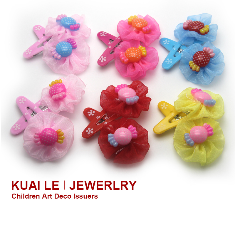 The novelty Children Girls Durable Hair Bows Candy &Flower Design Accessories Hair New Collection Hairpins(China (Mainland))