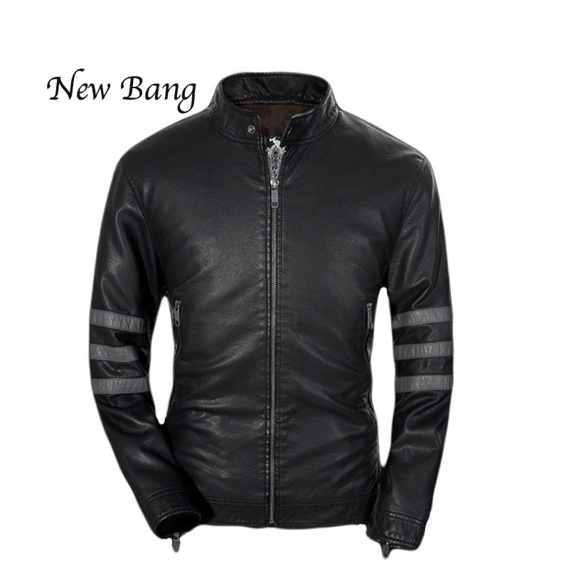 Pilot Leather Jackets Men Spring and Winter Leather Clothing Men Leather Jackets Male Business casual Coats 2016 Black Blouse(China (Mainland))