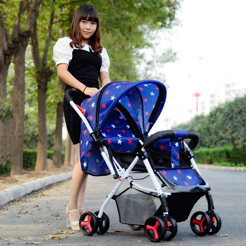 Good Quality Baby Stroller for Newbron Strengthen Four Wheels Folding Pram Baby Carriage Pushchair Plus Size<br><br>Aliexpress