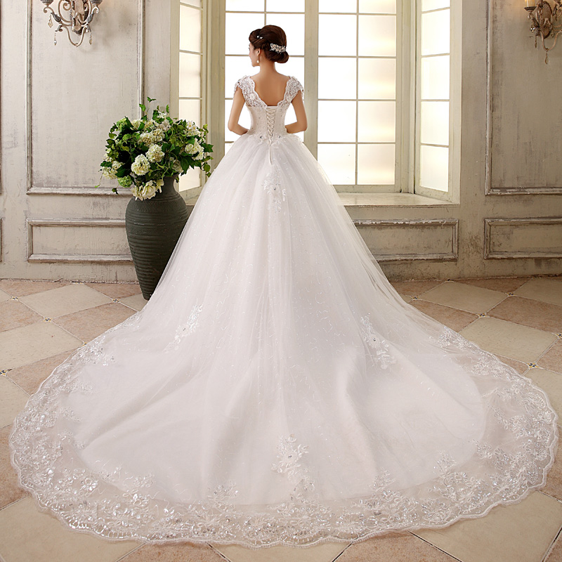 Free Shipping! Wedding dress 2015 Train Bride Fish Tail ...