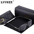 LVVKEE Brand Men polarized driving sunglasses Polaroid Lens Internal Blue coating Sun glasses Anti UV Fishing