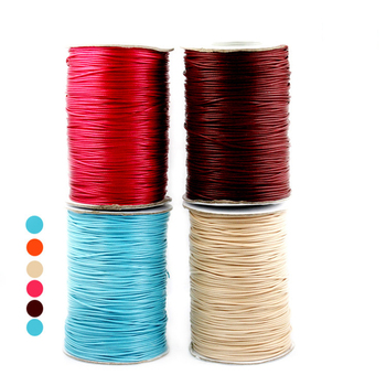 New Promotion 15 meters 1MM Waxed Thread Cotton Cord String Strap Wholesale Necklace Rope for Jewelry Making PS-FXT007