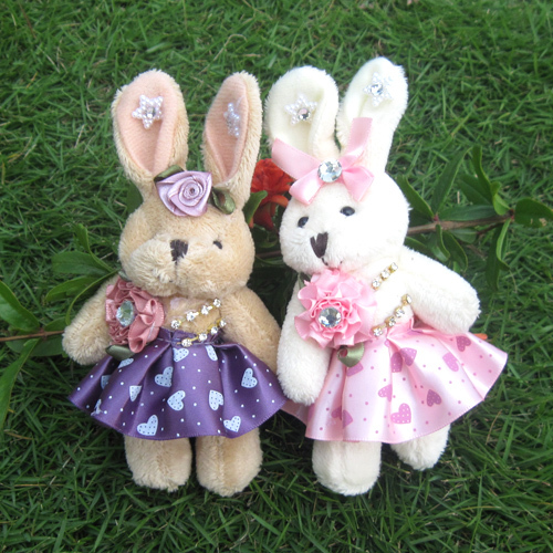 WJ179-6 Fashion Lovely Plush Stuffed Animal Car Anime Toy 13 CM Rabbit Style Supernova Sale Baby Pretty Birthday Gift(China (Mainland))