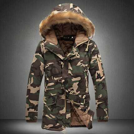 Camouflage Down Jackets 2015 New Designer Brand Fashion Winter Jacket Men Camo Snow Outdoor Long Casual Coats Jacket H6260(China (Mainland))