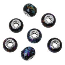 Buy DoreenBeads European Style Charm Glass Beads Drum Black Pattern Random 15mmx11mm,Hole: Approx 5mm,10 PCs 2015 new for $1.48 in AliExpress store