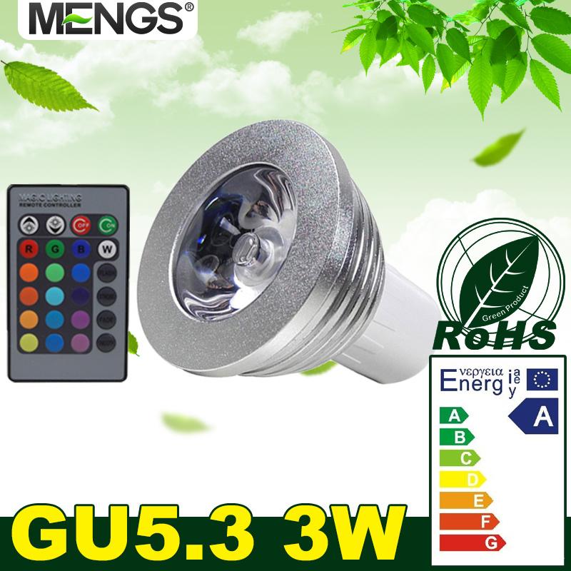 mengs gu5 3 3w led rgb light 16 colour changing spotlight. Black Bedroom Furniture Sets. Home Design Ideas