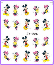 1X   Water  Stickers Nail Decals Stickers Water Transfers Decal  Cartoon  Minnie SY226 **BUY 3 GET 1 FREE**(China (Mainland))