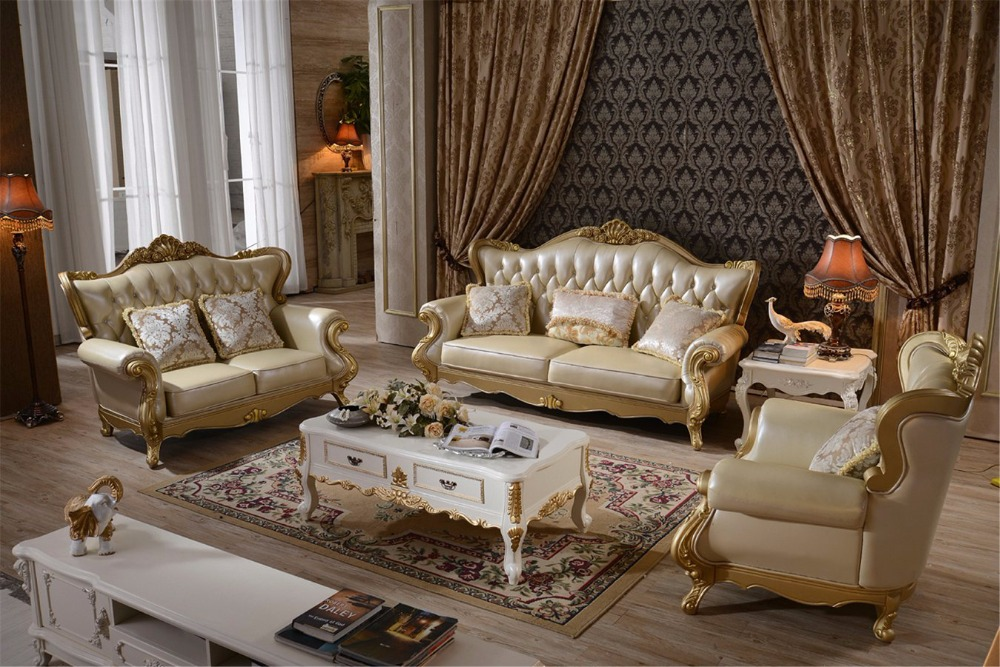 Living Room Muebles Bolsa Sectional European Style baroque furniture