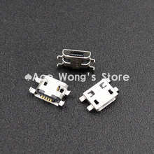 10pcs Micro USB 5pin B type Female Connector Flat Mouth Jack 0.8 Connector For Mobile Phone Charging Socket  (USB-4)(China (Mainland))