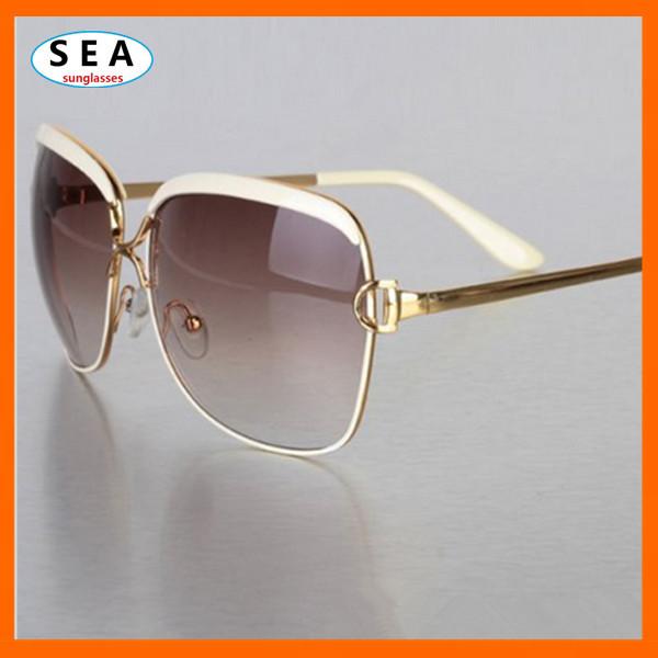SEA Vintage OCULOS Fashion sunglasses women brand designer UV 400 summer METAL female large frame eyeglasses gafas de sol s0497(China (Mainland))