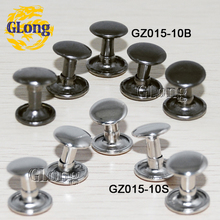 100set/pack 10mm Round Double Cap Rivet Stud Spike Collision Nail for Leathercraft Shoes Bag Belt Garment Accseeories #GZ015-10(China (Mainland))