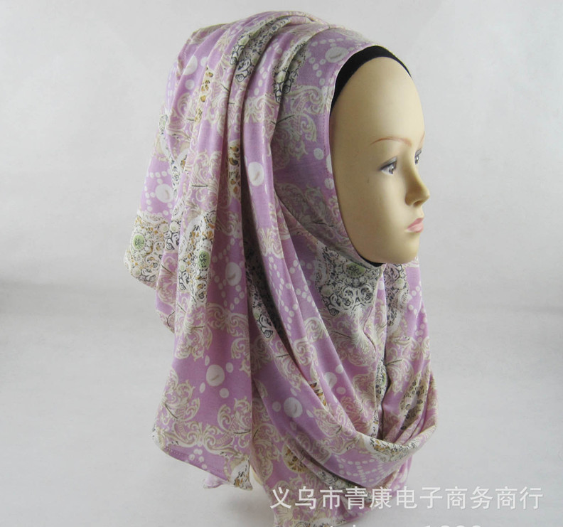 Fashion patterened women's scarf cotton high quality Turkish Indonesian muslim hijab for women headwear girl's cap 20 colors