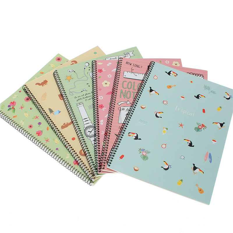 1Pcs Vintage Notebook Forest Animal Flower Journal Diary Coil Book 30 Sheets Stationery Office Accessories School Supplies Gifts(China (Mainland))
