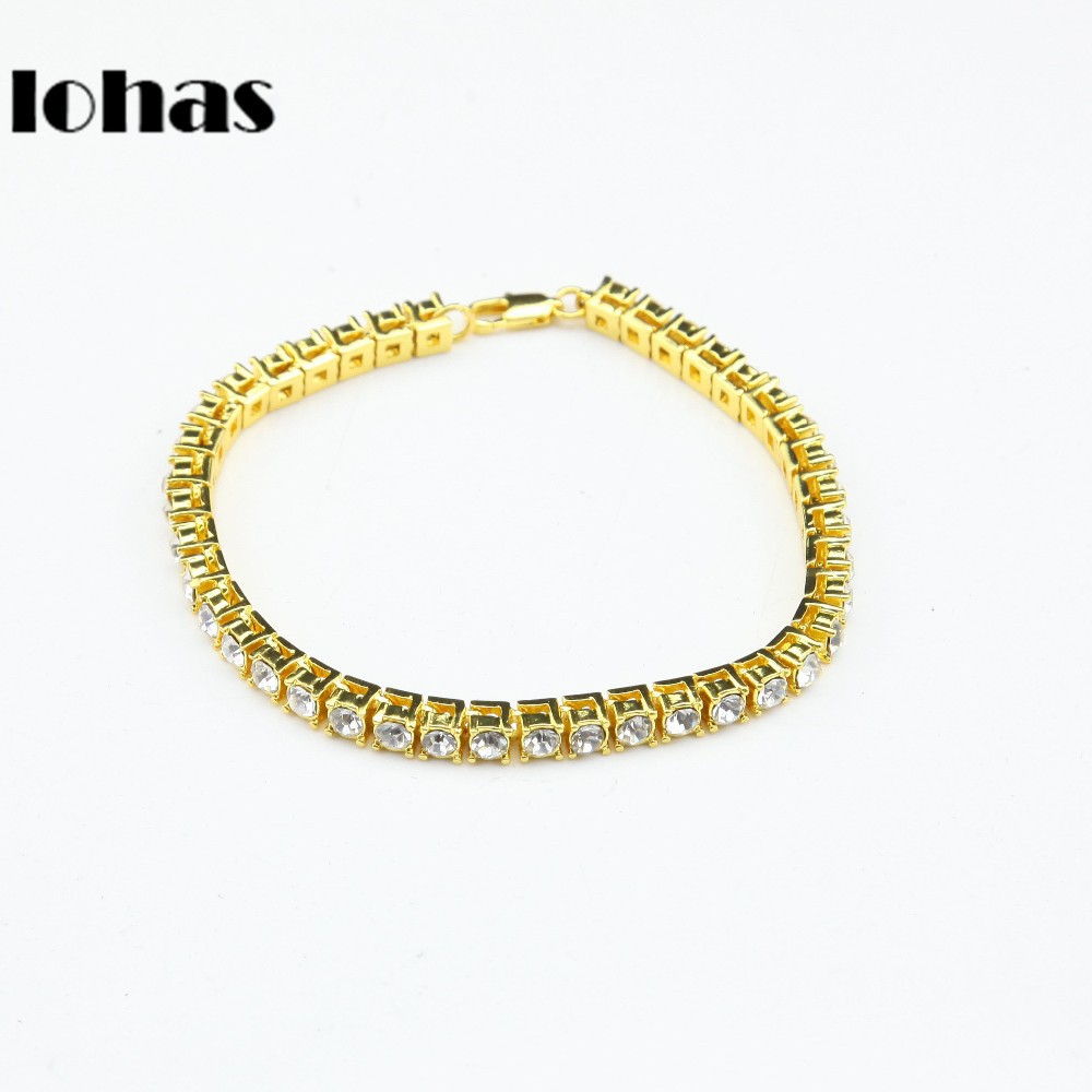 Bling Iced Special 1-12 Row Chain Bracelets Hip Hop Men's Gold Silver Plated Bangles Sewelry Heavy Bracelet - U WIN JEWELRY Store store
