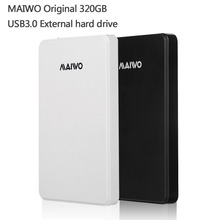Free shipping MAIWO Original Portable HDD USB3.0 Storage External hard drive 320GB Desktop and Laptop Plug and Play Best price(China (Mainland))