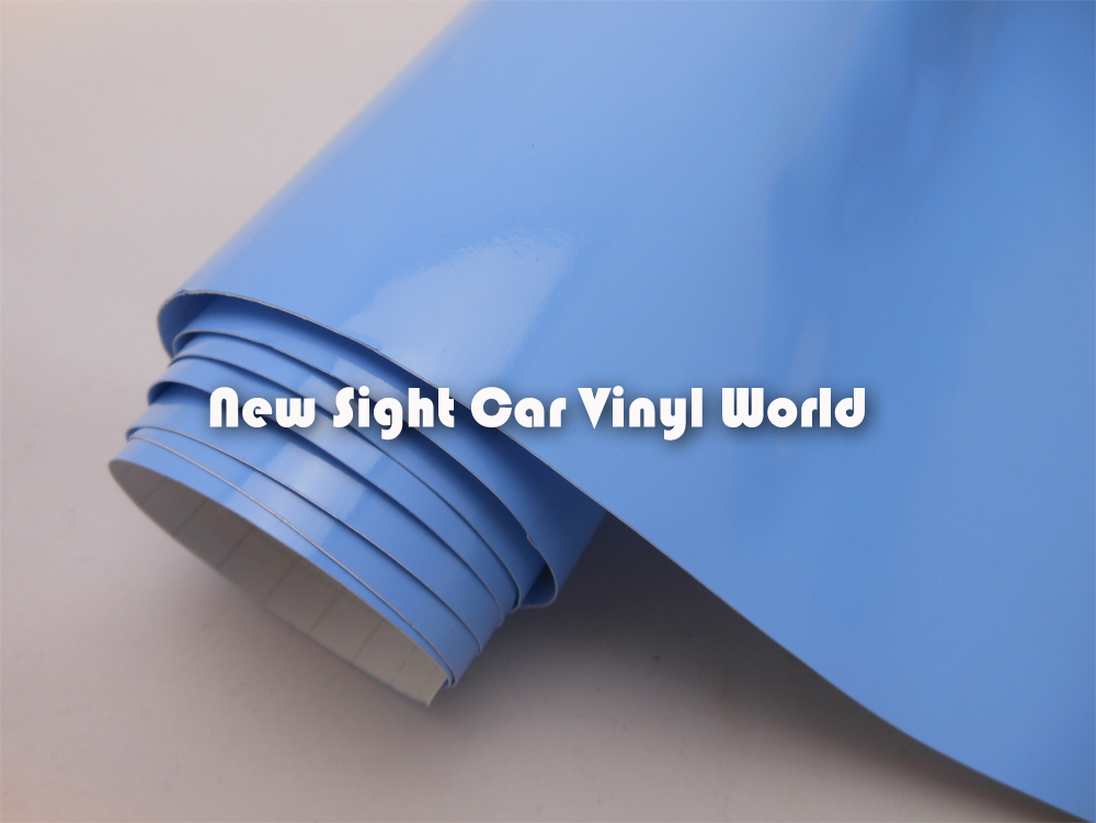 Wholesale Price Glossy Blue Car Wraps Vinyl Air Drain For Car Wraps FedEx FREE SHIPPING Size: 1.52*30m/Roll