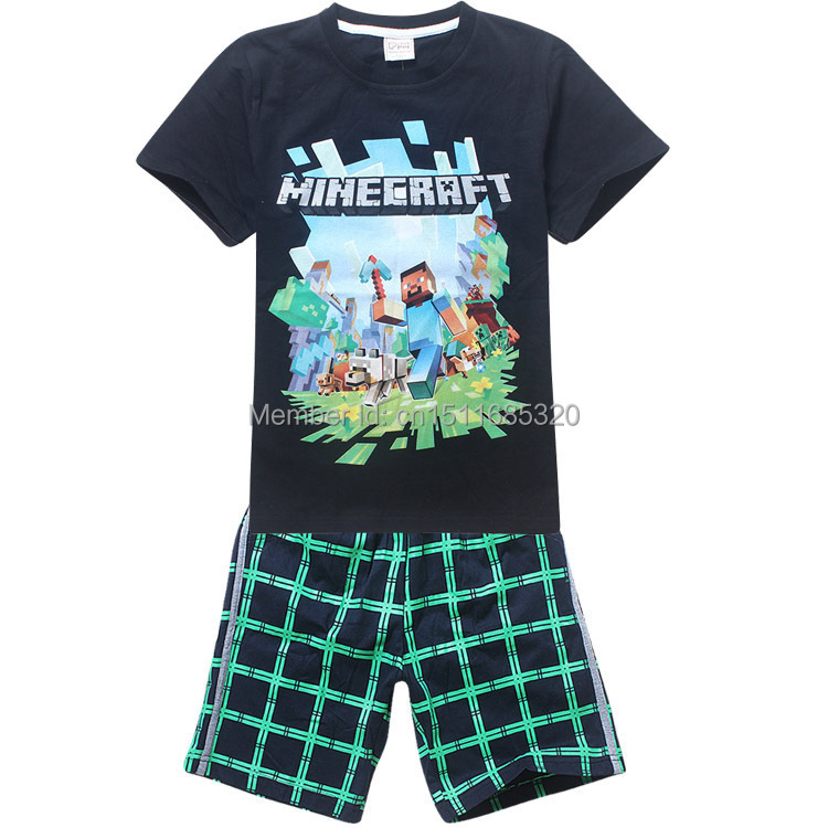 2015 Brand Children Kids Boys Clothes Sets Cartoon T-Shirt + shorts sport suit Baby Boy Fit 4-14 years old - Big windmill baby store